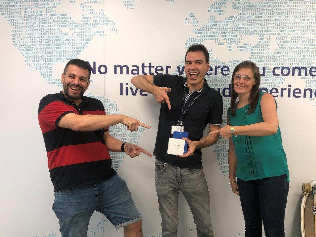 Cristian Miró, administrador de sistemas en la sucursal española de Mitsubishi Electric Europe B.V., ha ganado unos Airpods por contestar la encuesta de satisfacción a clientes.
