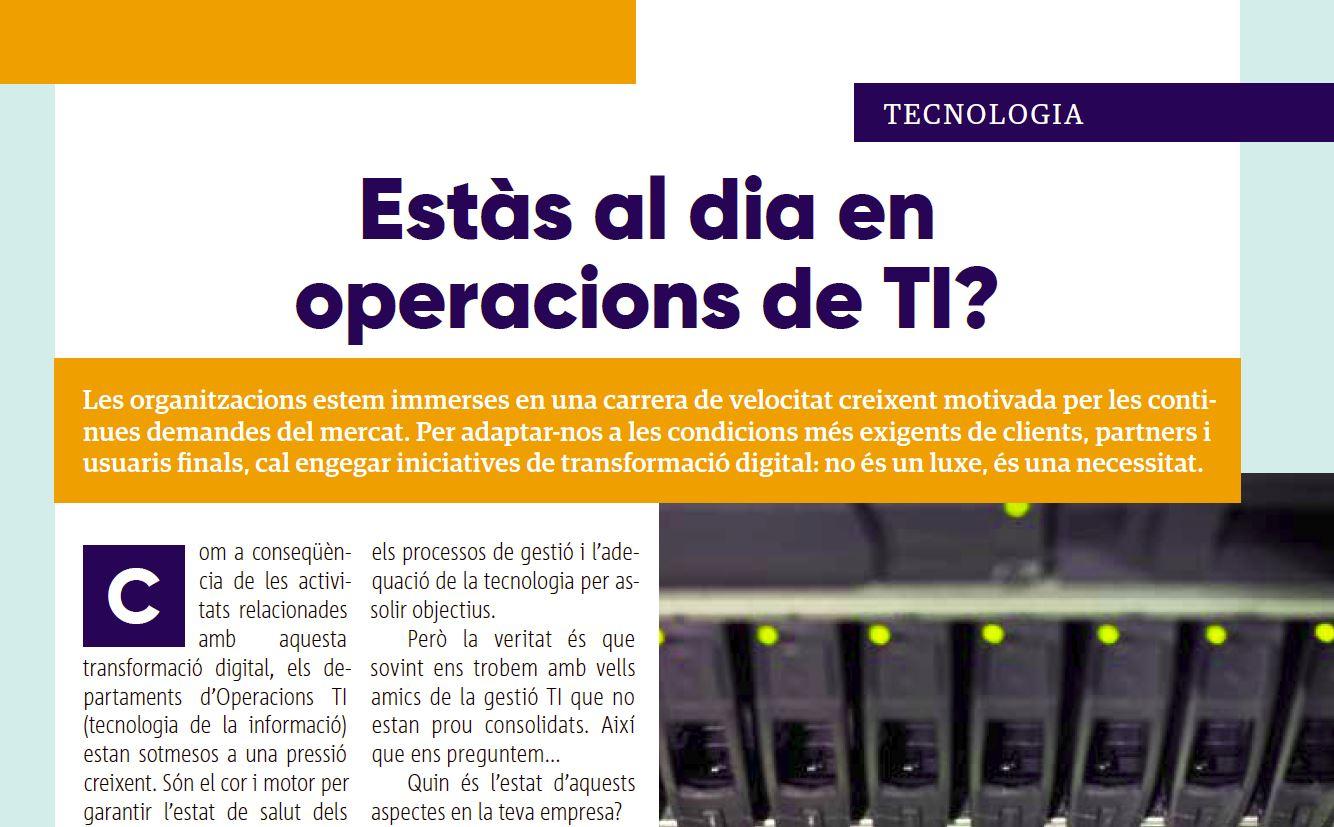 ¿Estás al día de las operaciones de TI?