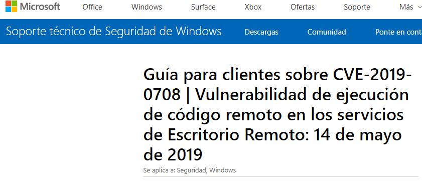 Nexica activa un plan para mitigar la vulnerabilidad detectada por Windows